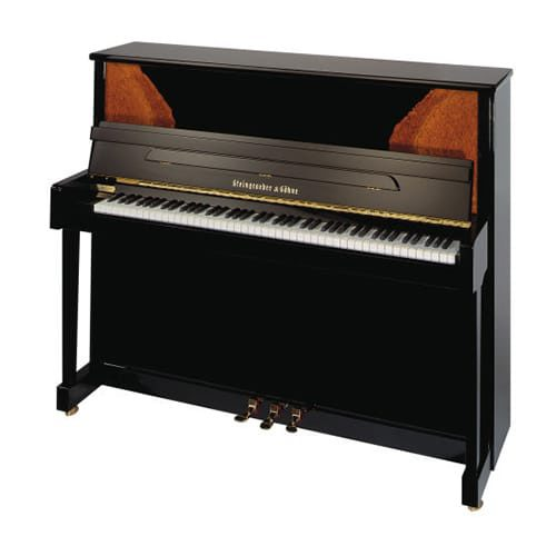 piano droit Steingraeber 122 noir brillant avec option Twist and Change
