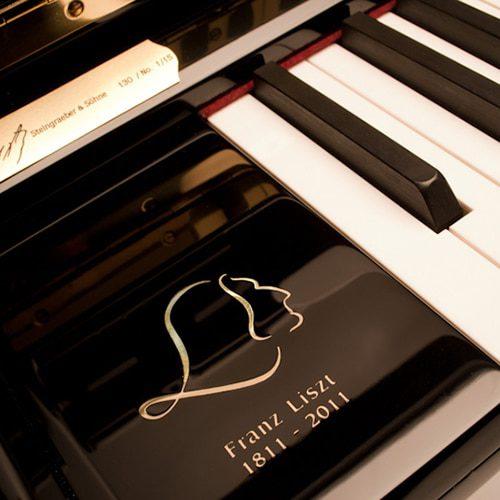 bloc Steingraeber B192 avec la dédicace à Franz Liszt