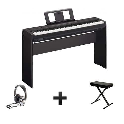 piano numérique Yamaha P45 full pack