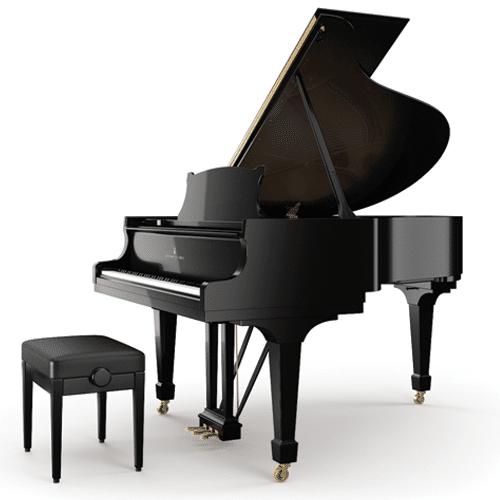 piano steinway&sons, modèle O-180 en noir brillant