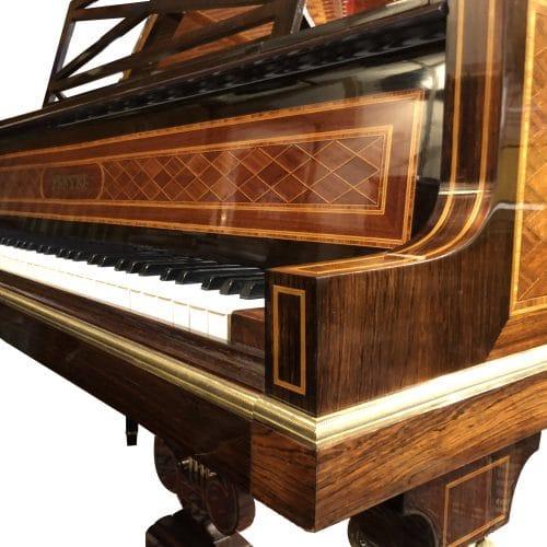 piano à queue Pleyel 3 réduit pieds louis XVI marqueté